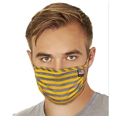 Face Mask, Comfortable Non-Elastic Ear Loops, Washable and Reusable, Unisex, Made in USA - Buy on Amazon